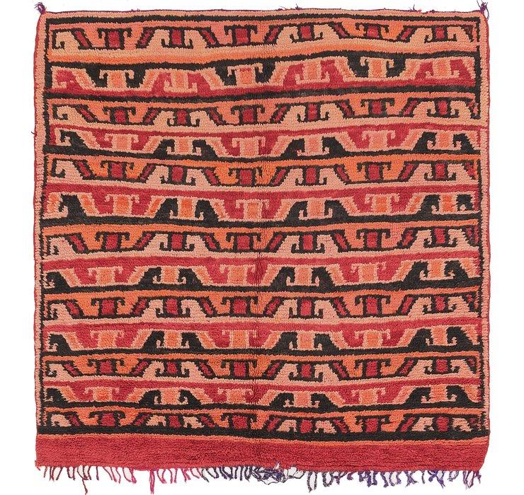 5' 10 x 6' Moroccan Square Rug