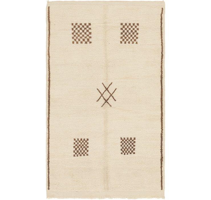5' x 6' 4 Moroccan Rug