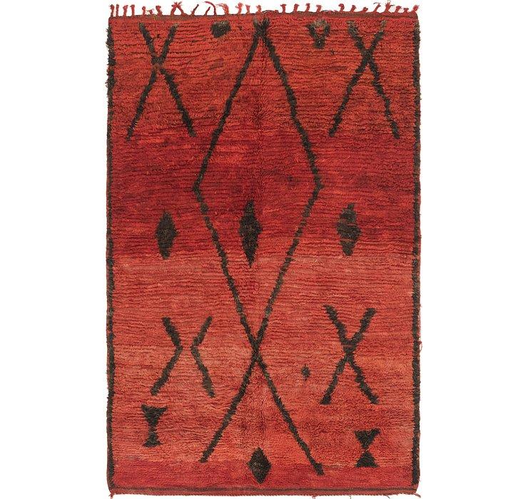 4' 5 x 7' Moroccan Rug