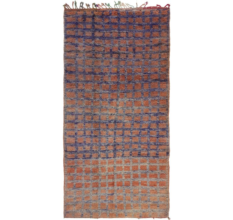 4' 4 x 8' 9 Moroccan Runner Rug