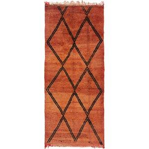 3' 8 x 8' 6 Moroccan Runner Rug