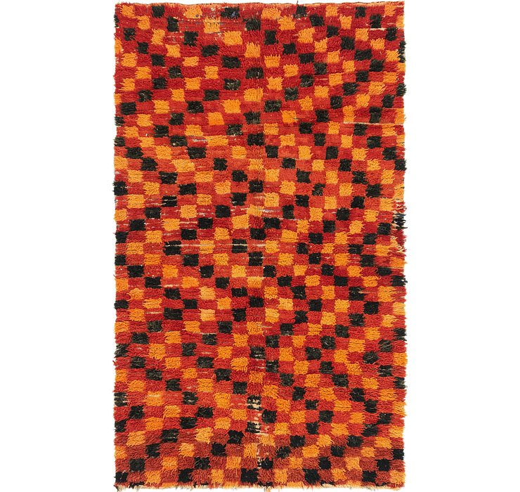 HandKnotted 4' 6 x 7' 8 Moroccan Rug
