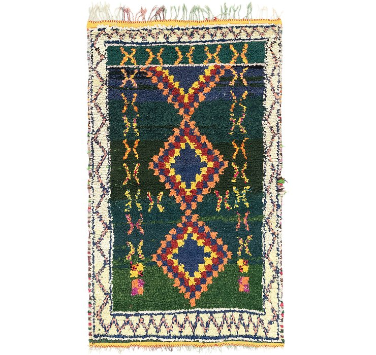 4' 2 x 6' 7 Moroccan Rug