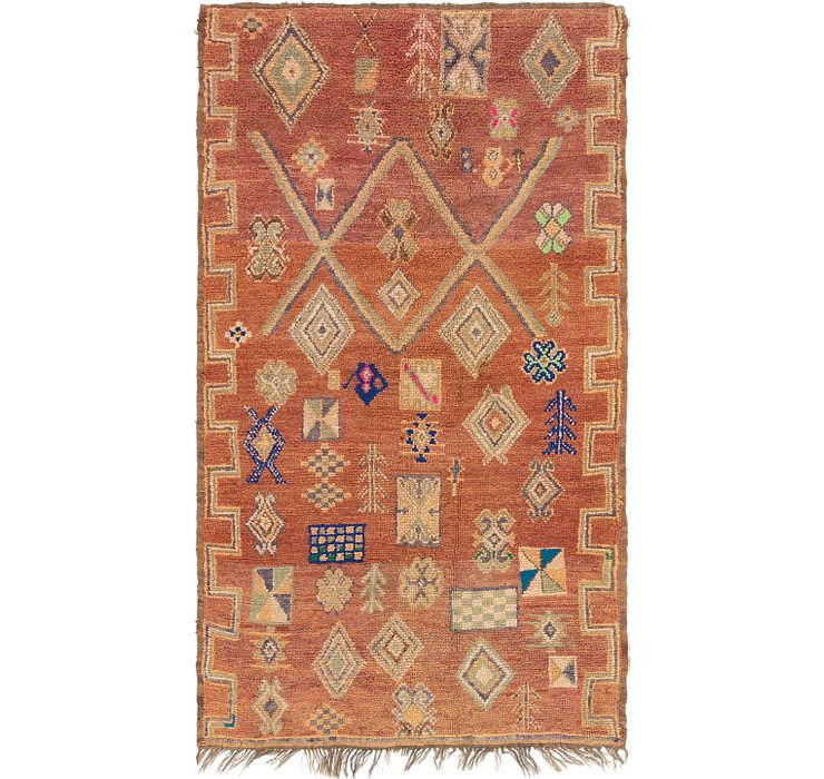 HandKnotted 4' 10 x 8' 5 Moroccan Rug