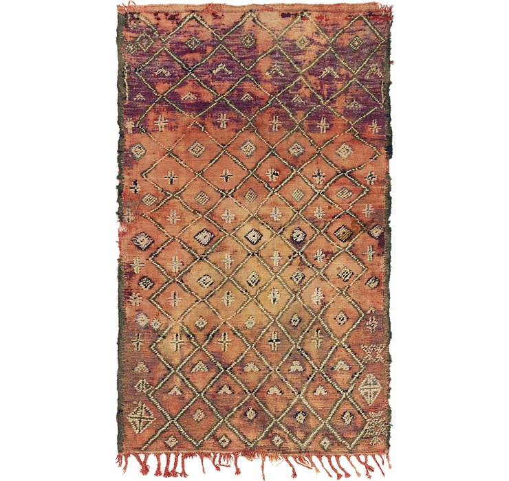 HandKnotted 4' 3 x 7' Moroccan Rug