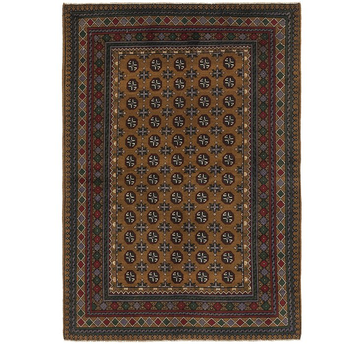 5' 6 x 8' Afghan Akhche Rug