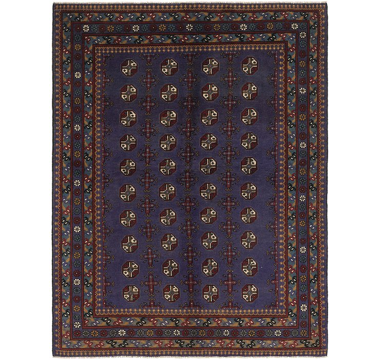 5' 10 x 7' 8 Afghan Akhche Rug