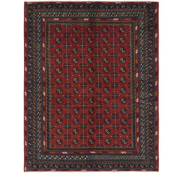 5' 9 x 7' 4 Afghan Akhche Rug