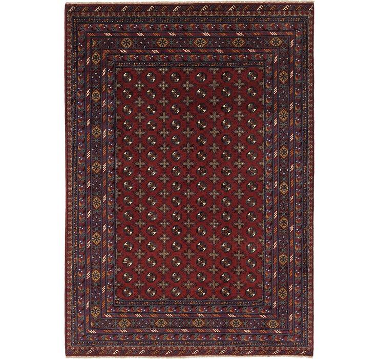 6' 10 x 9' 8 Afghan Akhche Rug