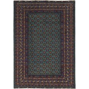 Unique Loom 6' 7 x 9' 5 Afghan Akhche Rug
