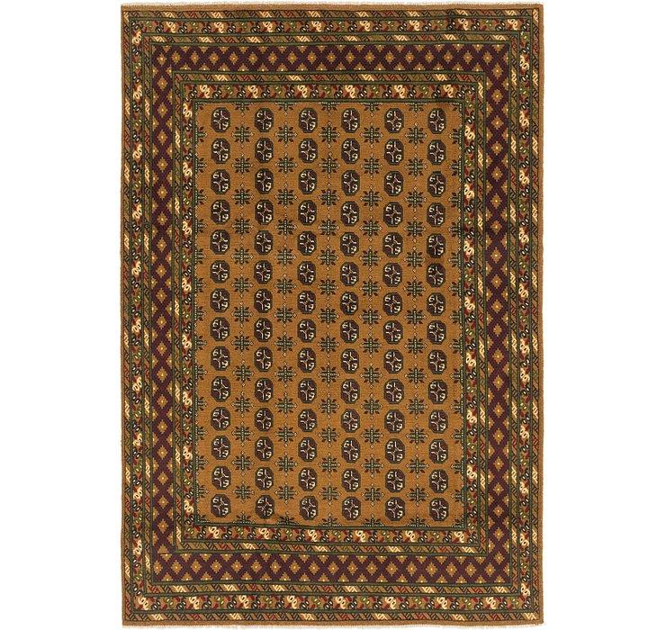 6' 7 x 9' 7 Afghan Akhche Rug