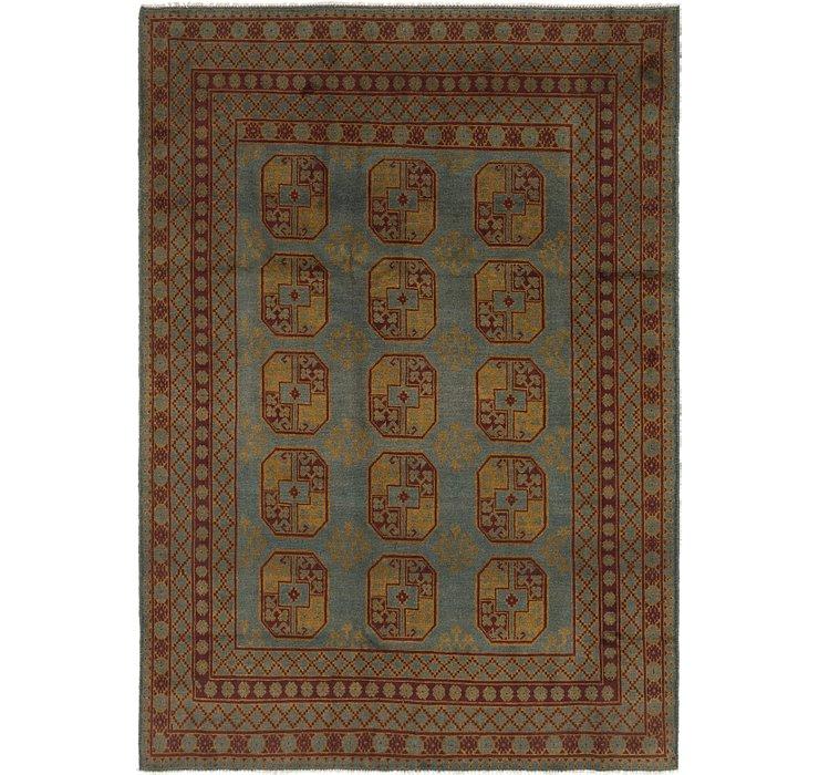 6' 8 x 9' 3 Afghan Akhche Rug