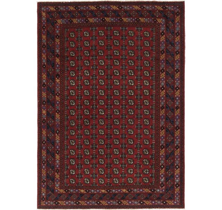6' 10 x 9' 6 Afghan Akhche Rug