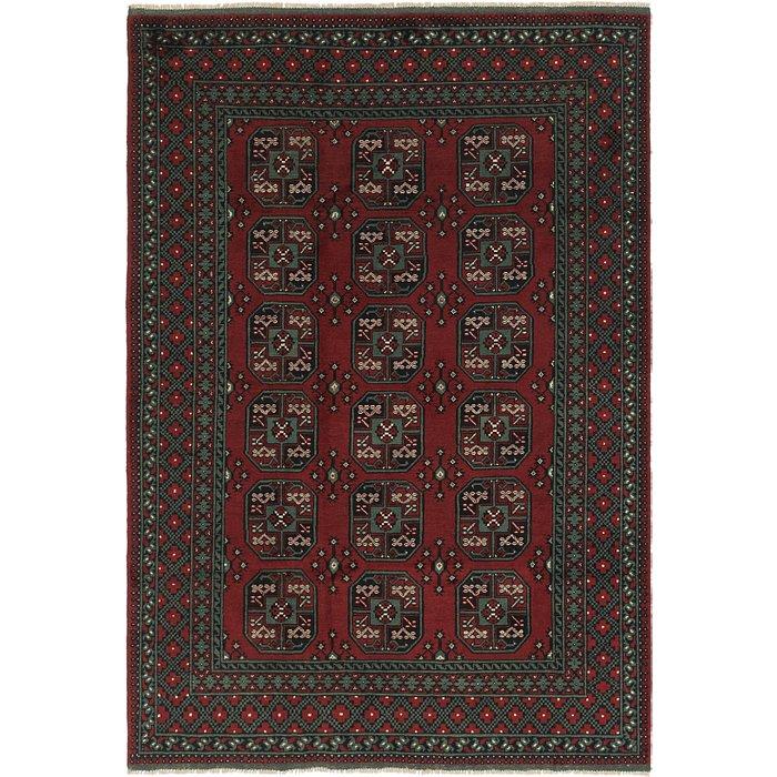 6' 9 x 9' 8 Afghan Akhche Rug