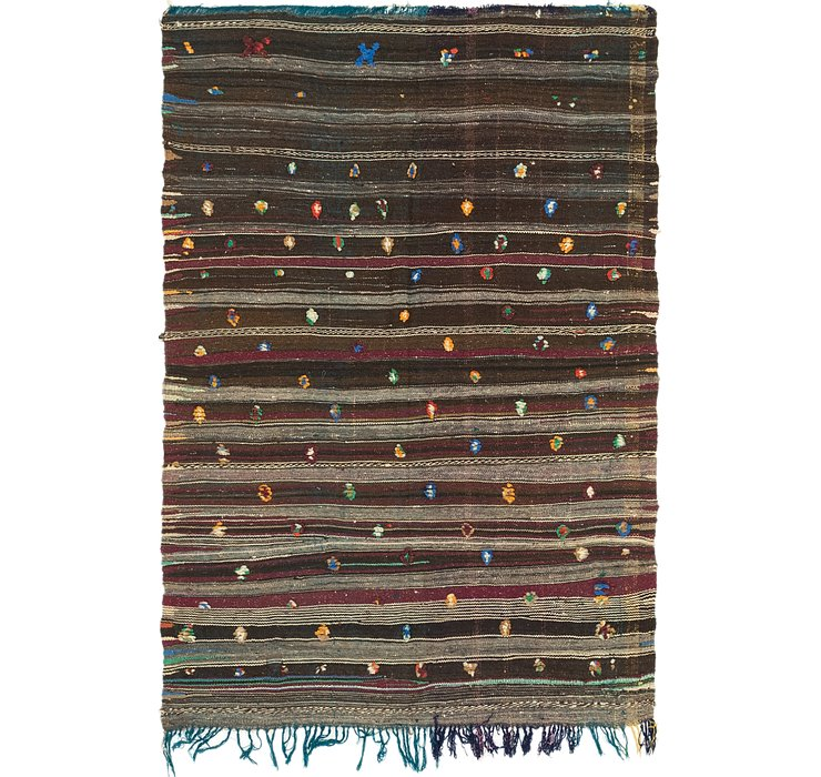 HandKnotted 4' 4 x 6' 2 Moroccan Rug