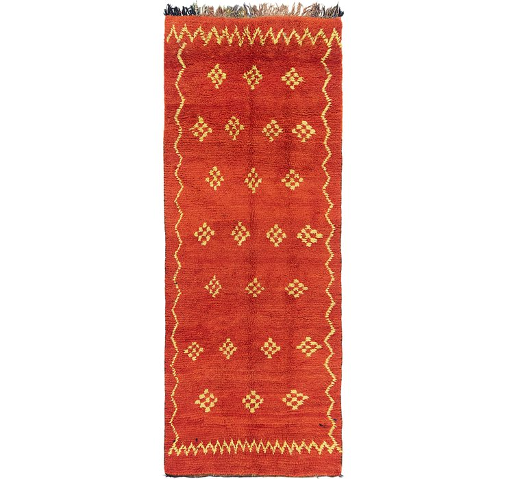 HandKnotted 3' 9 x 9' 9 Moroccan Runner Rug