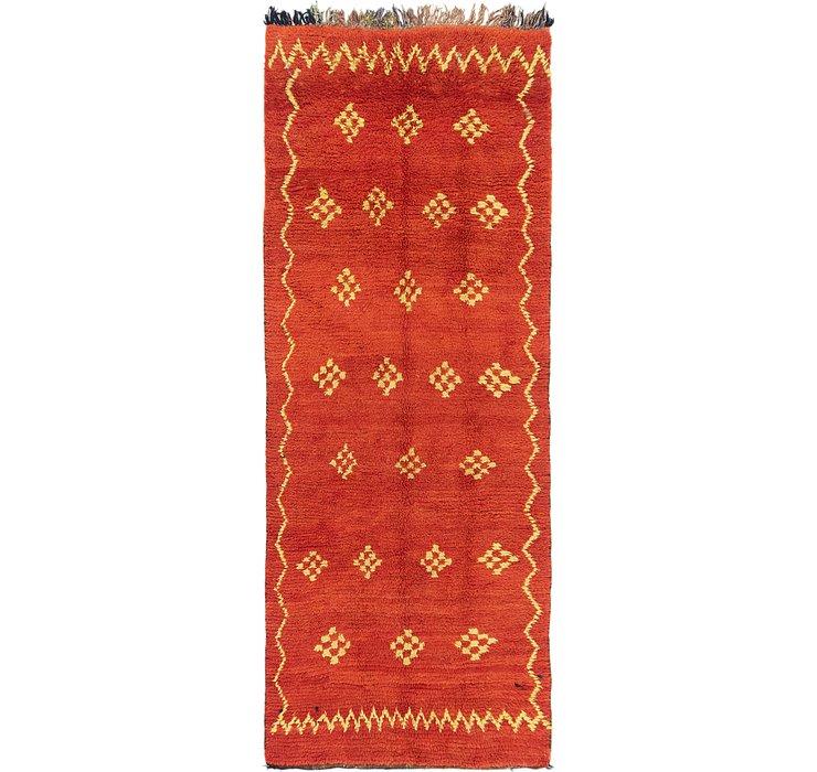3' 9 x 9' 9 Moroccan Runner Rug