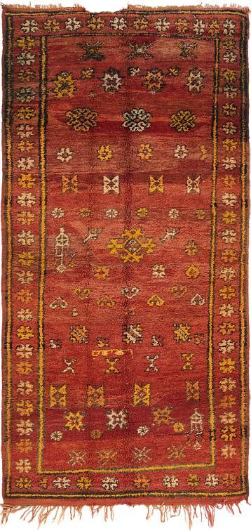 Red 4 3 X 8 9 Moroccan Runner Rug Oriental Rugs Esalerugs
