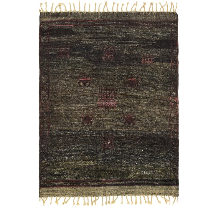 HandKnotted 5' x 6' 6 Moroccan Rug