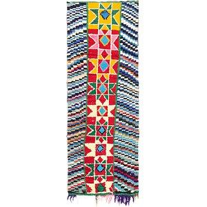 3' x 7' 8 Moroccan Runner Rug