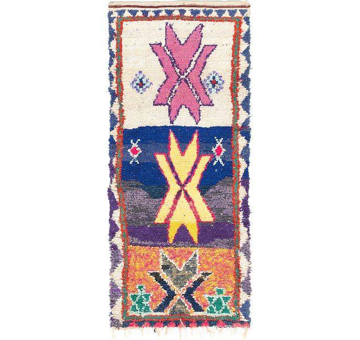 3' x 7' 6 Moroccan Runner Rug