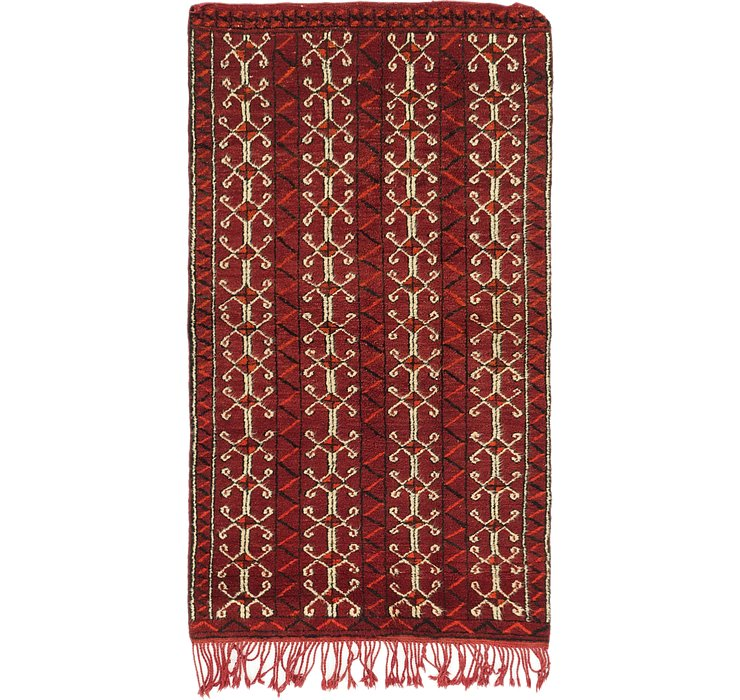 HandKnotted 3' 3 x 5' 10 Moroccan Runner Rug