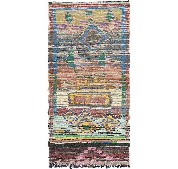 4' 6 x 8' 9 Moroccan Rug