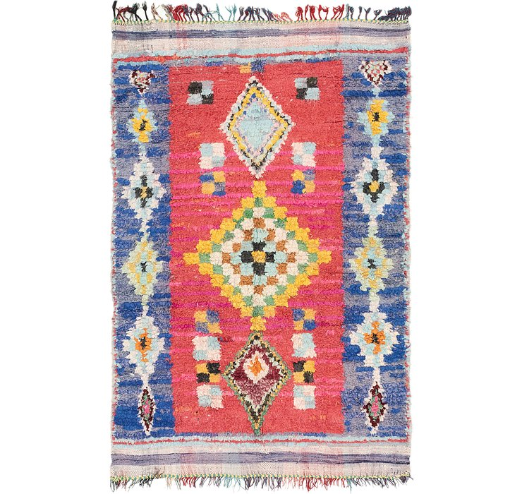 5' x 7' 8 Moroccan Rug