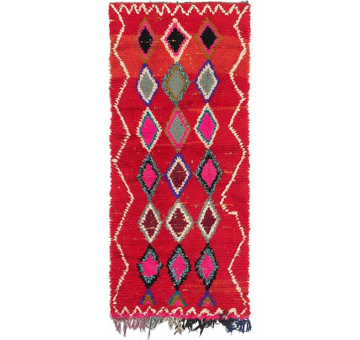 3' 4 x 7' 2 Moroccan Runner Rug