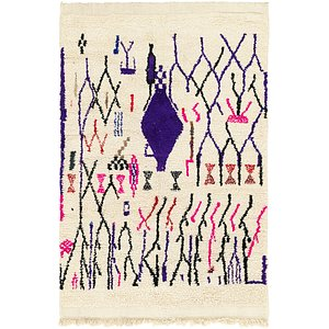 HandKnotted 4' 7 x 7' Moroccan Rug