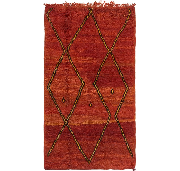 HandKnotted 3' 7 x 6' Moroccan Rug