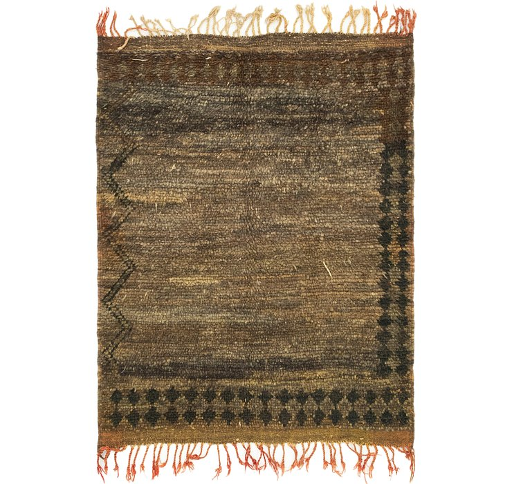 HandKnotted 3' 9 x 5' Moroccan Rug