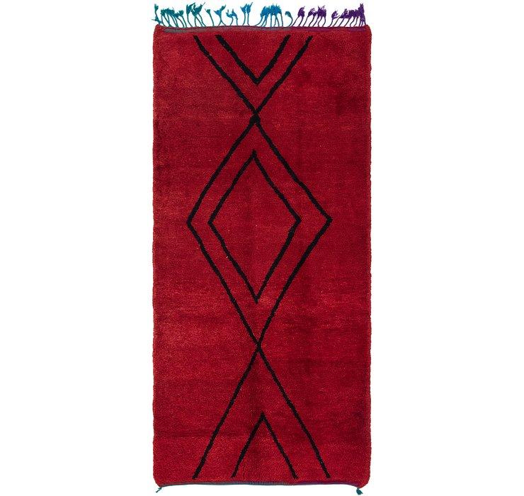 4' x 8' 3 Moroccan Runner Rug