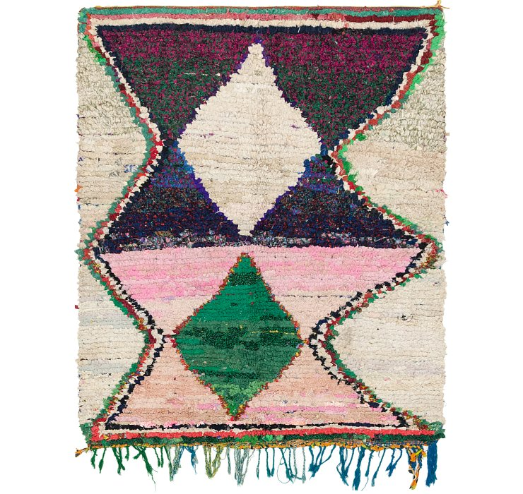 HandKnotted 5' x 6' 2 Moroccan Square Rug