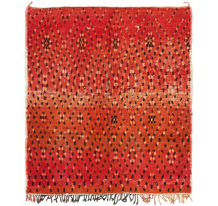 5' 4 x 6' 2 Moroccan Square Rug