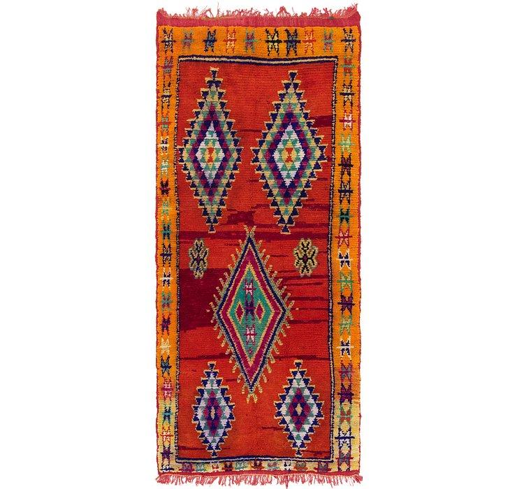 4' x 9' 4 Moroccan Runner Rug