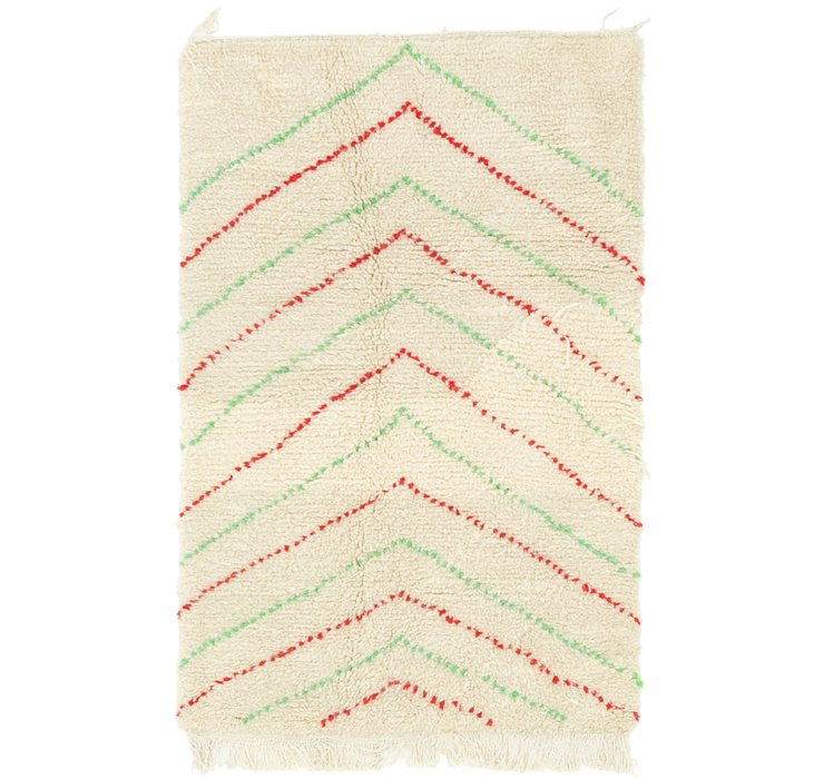 HandKnotted 3' x 5' Moroccan Rug