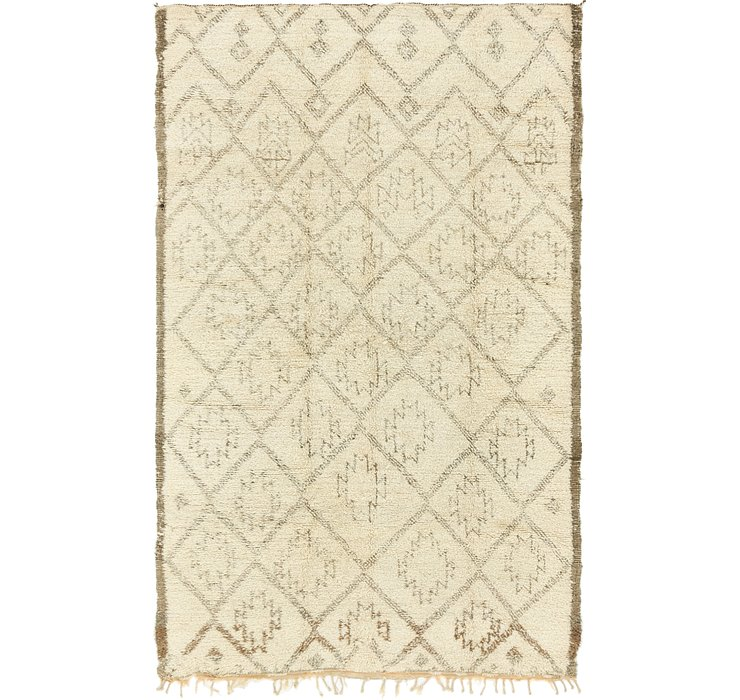 HandKnotted 6' x 9' 10 Moroccan Rug
