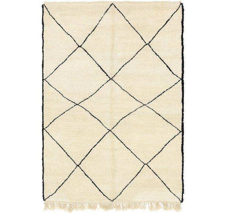 HandKnotted 6' 8 x 9' 10 Moroccan Rug