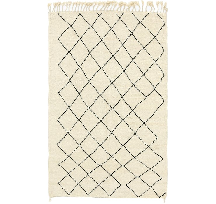 HandKnotted 6' x 10' Moroccan Rug