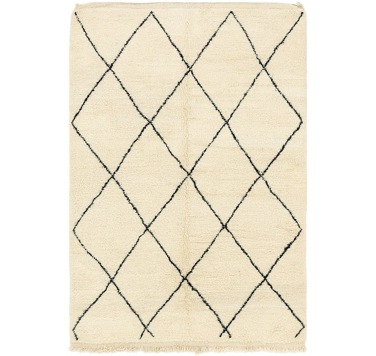 HandKnotted 6' 4 x 9' 9 Moroccan Rug