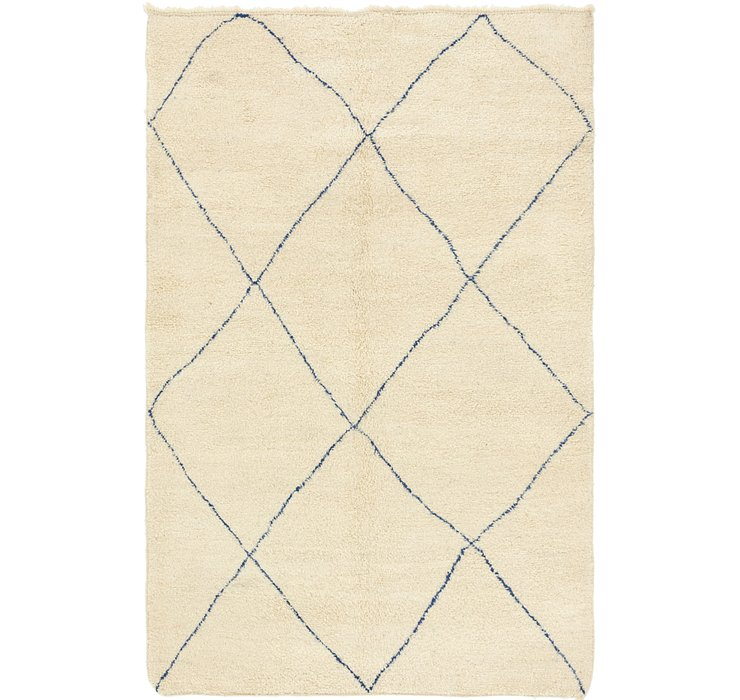 HandKnotted 6' 7 x 10' Moroccan Rug