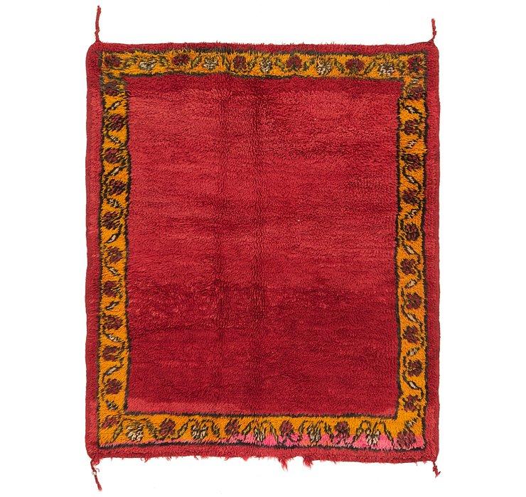 4' x 5' 4 Moroccan Rug