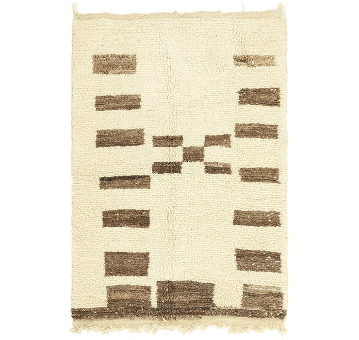 HandKnotted 2' 10 x 4' 5 Moroccan Rug