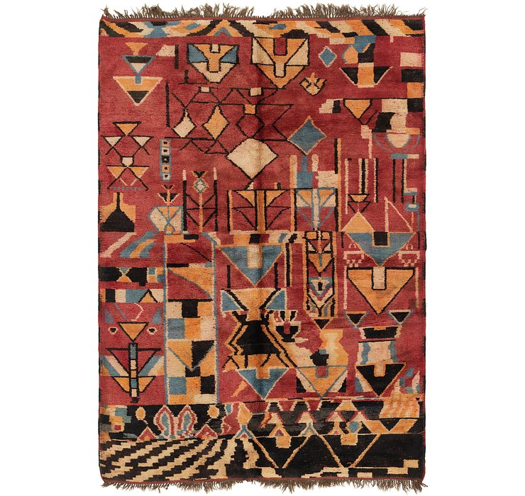 6' 8 x 9' 3 Moroccan Rug
