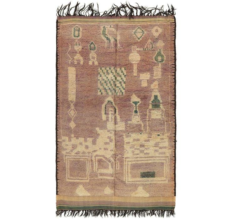 6' x 10' 7 Moroccan Rug