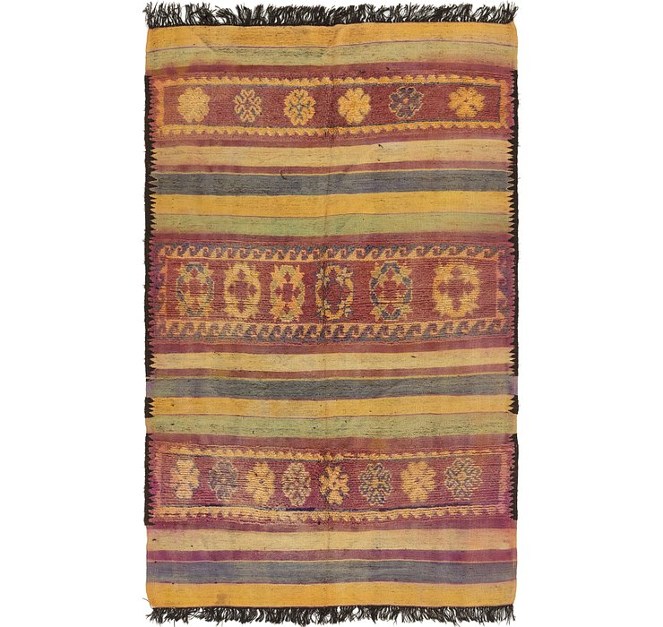 HandKnotted 5' 9 x 10' Moroccan Runner Rug