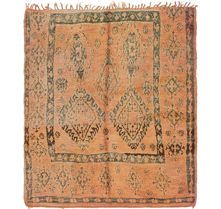 HandKnotted 5' 4 x 6' Moroccan Square Rug