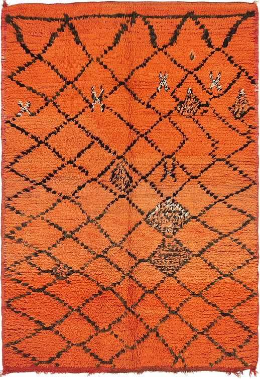 Orange  4' 10 x 6' 8 Moroccan