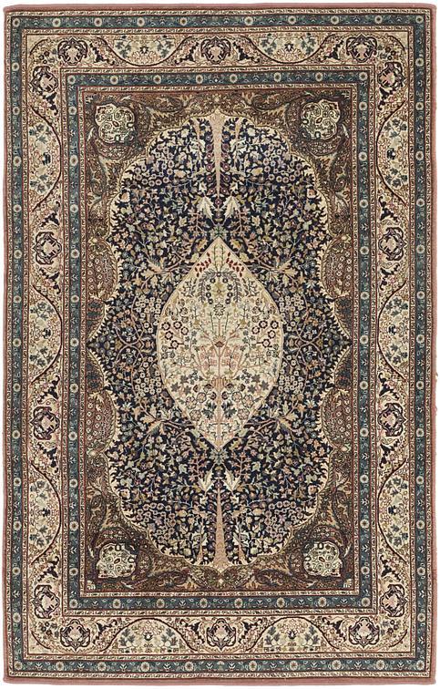 Black 4 X 6 6 Kashmir Oriental Rug Oriental Rugs Esalerugs